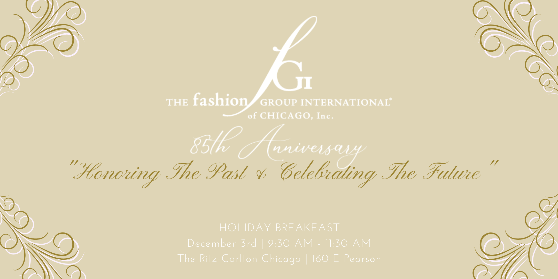 fgi chicago event 85th anniversary holiday Tea party