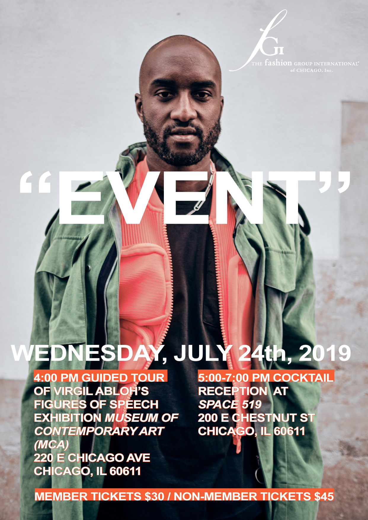 FGI Chicago Virgil Abloh Figures of Speech Space 519 Graffiti Fashion Event