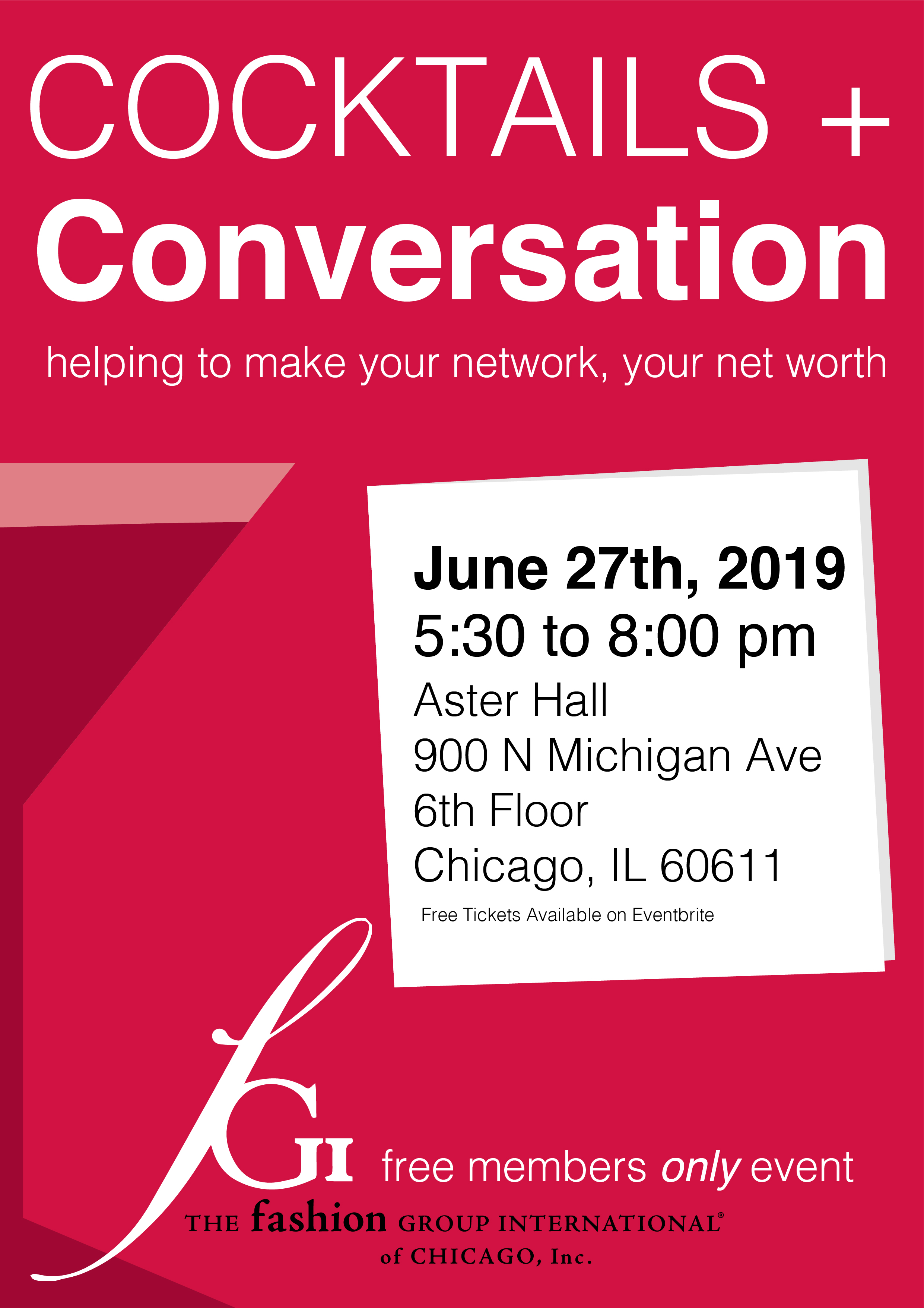 2019 Cocktails and Conversation FGI Members Only Free Event