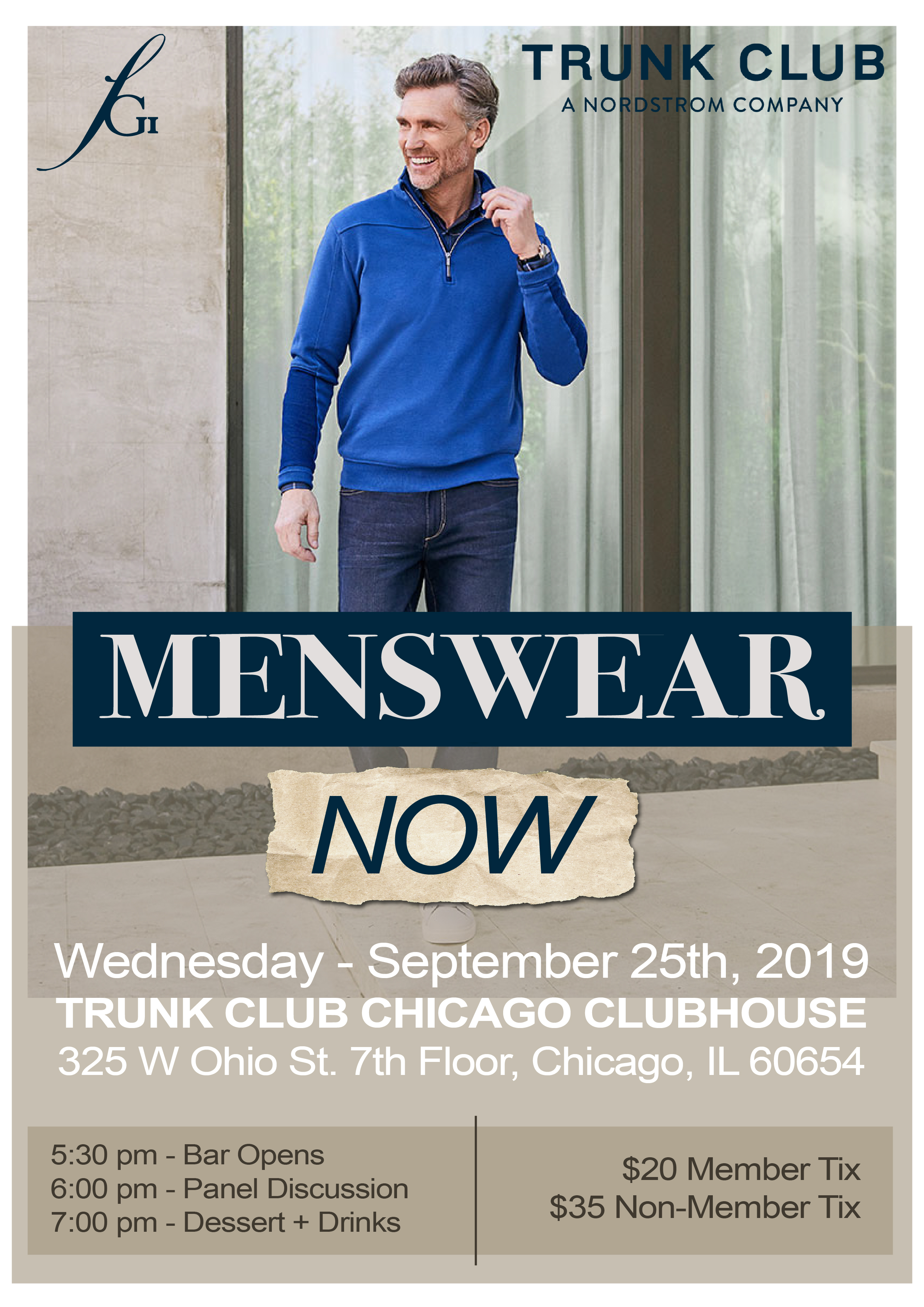 fgi chicago event digital menswear fashion trunk club networking style fun